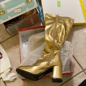 Rubie's Adult GoGo Boots Gold